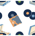 music vinyl records pattern seamless retro vector image