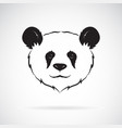 panda head design on white background wild vector image vector image