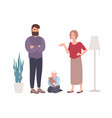 parents quarreling or fighting in presence vector image