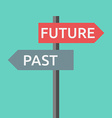 Past and future sign vector image vector image