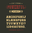 powerful font crafted vector image vector image