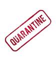 quarantine stamp stop pandemic coronavirus covid19 vector image