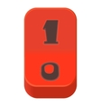 Red on or off switch icon cartoon style vector image vector image