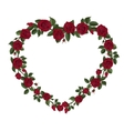 Roses in a heart shape symbol vector image