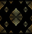 seamless pattern golden lines geometric vector image vector image