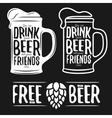 set beer typography vintage prints quotes vector image vector image