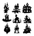 set haunted houses for halloween collection vector image vector image