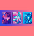 set of abstract gradient backgrounds vector image vector image
