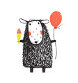 sheep with ice cream and balloon vector image vector image