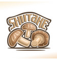 shiitake mushrooms vector image vector image