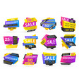 shopping sale and price discounts badges vector image