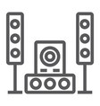 sound system line icon audio and stereo music vector image vector image
