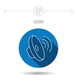 Sound waves icon Audio speaker sign vector image