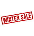 square grunge red winter sale stamp vector image vector image