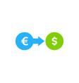 stock market business logo icon design vector image vector image