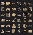 telephone icons set simple style