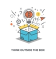 think outside the box vector image vector image