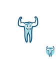 Tooth athlete symbol vector image vector image