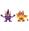 troll bigfoot and imp cute funny fairytale vector image