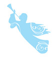 trumpeting angel vector image