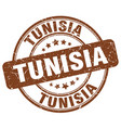 tunisia brown grunge round vintage rubber stamp vector image vector image