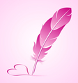 Valentines goose quill vector image