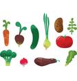 Vegetables set vector image