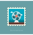 Ventilator stamp Summer Vacation vector image vector image