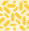 wheat or leaves seamless pattern vegetable set vector image