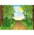 Realistic landscape spring or summer forest vector image