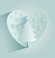 christmas tree in the heart vector image