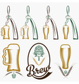 vintage collection of beer and beer dispensers vector image