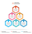Abstract infographics template layered pyramid
