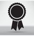badge with ribbons icon vector image vector image