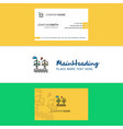 beautiful air turbine logo and business card vector image vector image