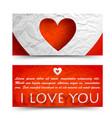 beautiful decorative greeting horizontal banners vector image vector image