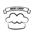 best chef icon cook hat vector image