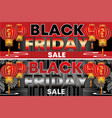black friday-a flyer with the image of chinese vector image vector image
