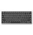 black keyboard object vector image vector image