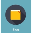 Blog Flat Concept vector image