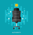 Business Concept Authority in Flat Design Style vector image
