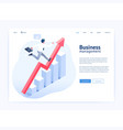 business management website ui ux design vector image
