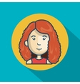 Cartoon girl character web graphic