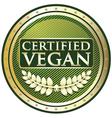 Certified Vegan Label vector image vector image