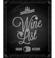 Chalkboard wine