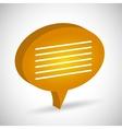 Chat speech bubbles vector image vector image