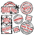 christmas and new year design elements vector image vector image