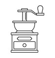 coffee grinder icon outline style vector image vector image