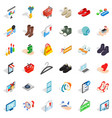 creative marketing icons set isometric style vector image vector image