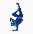 dancer hip hop street dance b boy dance action vector image vector image